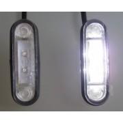 Lampa de contur a gabaritului pentru vehicule FT-015 Alb Bull-Bar