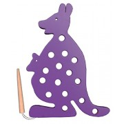The Kiddy Depot – Sewing Activity Toy with Needle – Kangaroo (Coloured)