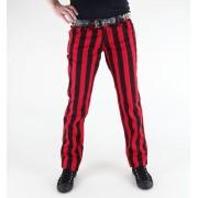 hlače žensko 3RDAND56th - 1 Pruga Mršav Traperice - JM1111 - Crno-Crveno
