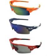 Eye Jewels Sports Sunglasses(Green, Blue, Black)