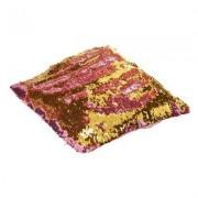 geschenkidee.ch Magische Kissenhülle Wendepailletten Pink Gold