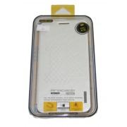 Baseus brocate кожен калъф + стойка за HTC Desire 816 Бял