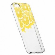 Husa Silicon Transparent Slim Lemon Apple iPhone 5 5S SE