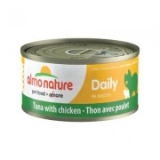 Almo Nature Daily Tuna with Chicken in Broth Grain-Free Canned Cat Food, 2.47-oz, case of 24