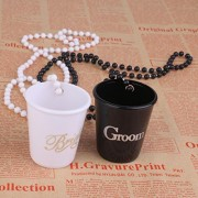 ELECTROPRIME® Groom Bride Cup Ch Pendant Bead Chain Night Party Bridal Shower Favor