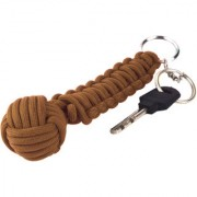 Paracord 550 Best Monkey Fist Cobra Self Defense keychain for Camping Hiking Outdoor Activities long brown