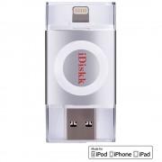 Stick USB 16GB U003 USB 3.0, MFI Argintiu iDISKK