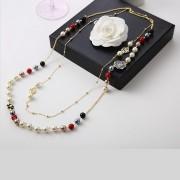 Colier Sautoir flori si perle