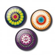 Insigne, 3buc/set, Roller NIKIDOM - Mandala