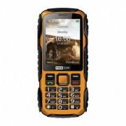 Maxcom MM920 mobiltelefon, kártyafüggetlen-, ütés-, por-, víz (IP67)- és sár ellen sárga