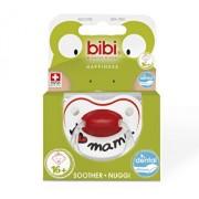 Suzeta silicon cu inel Bibi, mama, + 16 luni