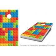 "Lego Blocks Cornhole Wrap set! 2x Decals (24"" x 48"") Custom Vinyl Legos graphics for cornhole baggo Bag Toss boards game"