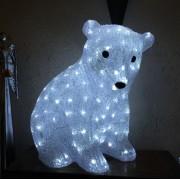 Orso polare di Natale decoLED - 40 cm, 160 diodi LED