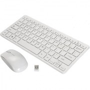 Mini Wireless Keyboard Mouse Combo 2.4 GHz with Key Skin
