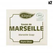 Alepia 2 Savons de Marseille Pure Olive Bio Douceur - 2x230 gr