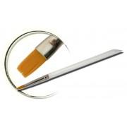 Pensula maner acril, plata, marimea 6, art. nr.: 40004