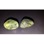 "(#3) 2pc Set of Polished Green Jade Nephrite Medium / Large ""A-Grade"" Free-form Nuggets 100% Natural Healing Crystal Gemstone Specimen"