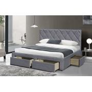 Спалня Мебели Богдан модел 3-Betina BM 160, за двулицев матрак 160/200 см, цвят: сив, размер: 169/218/107 см