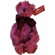 Russ Berrie Bears From the Past Quigley Bear Plush Toy Raspberry Pink