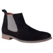 Goosebird Men's Black Suede Leather Boots