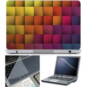 Finearts Laptop Skin Abstract Series 1056 With Screen Guard And Key Protector - Size 15.6 Inch