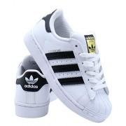 Adidas ORIGINALS Kids' Superstar Sneaker, White/Black/White, 5.5 Big Kid M
