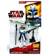 Star Wars The Clone Wars Captain Rex Figure CW24 - 3-3/4 Inch Scale Action Figure