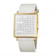 Biegert & Funk Qlocktwo Watch Gold White W35 - Nederlands