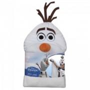 Jégvarázs Olaf kesztyűs és kapucnis plüss takaró - 100x100 cm - Plüss és állat,-mesefigurák