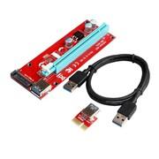 Przedłużacz riser usb PCI-E PCI Express 1X - 16X 60cm 007s z zasilaniem SATA