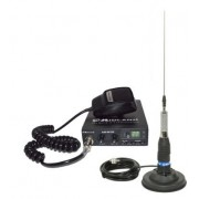 Kit Statie radio CB Midland Alan 100 + Antena Midland ML145 cu magnet 120/pl (Negru)