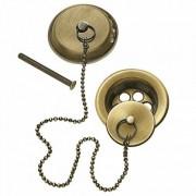 TRES Ensemble d'accesoires pour baignoire Ø 70 Chaînette de 42 cm. - TRES 9134745051