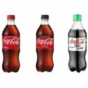 Pack de 24 Botellas 591ml Coca Cola en Todas las Versiones (Normal-Light-Zero)