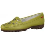 MARC JOSEPH NEW YORK Zapatos de Golf para Mujer de Piel Hechos en Brasil, Apple Grainy, 8.5 US