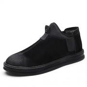 J.S.U-Shoes J.S.U Moda for Hombre Oxford Casual Personalidad Costura Contraste Invierno Faux Fleece Interior Zapatos Formales (Convencional Opcional) Marca Classic Hombre Zapatos de Vestir con Punta Puntiaguda