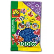 SES Creative Iron On Beads, Navy Blue, 1000-Pack