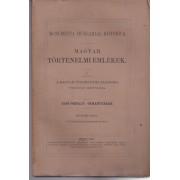 MAGYAR TÖRTÉNELMI OKMÁNYTÁR A BRÜSSELI ORSZÁGOS LEVÉLTÁRBÓL ÉS A BURGUNDI KÖNYVTÁRBÓL IV. kötet