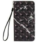 MTP Products Samsung Galaxy Xcover 4 Marble Plånboksfodral - Svart
