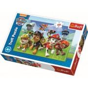 Puzzle clasic copii - Patrula Catelusilor Gata de actiune 60 piese