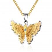 Collares Colgantes De Moda Venico De Mariposa Joyerìa De Mujer - Dorado