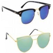 Elgator Over-sized Sunglasses(Blue, Green)