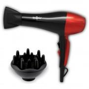 Сешоар с дифузер SAPIR SP 1100 CSDR, 1800W, 2 скорости, 3 нива на температура, Червен/черен