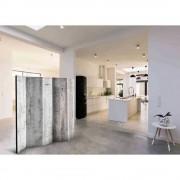 Küchen Paravent mit Betonwand Motiv 225 cm breit