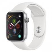 Смарт часовник Apple Watch Series 4 GPS, 44mm Silver Aluminium Case with White Sport Band, MU6A2WB/A