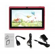 7-pulgadas De Pantalla Táctil HD Niños Tablet PC 512MB +8GB US Plug Estudiantes Tablet Rojo