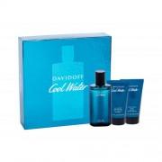 Davidoff Cool Water set cadou Apa de toaleta 75 ml + Gel de dus 50 ml +Balsam dupa ras50 ml pentru bărbați