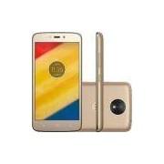 Smartphone Motorola Moto C Plus Dual Chip Android 7.0 Nougat Tela 5 Quad-Core 1.3GHz 8GB 4G Câmera 8MP - Ouro