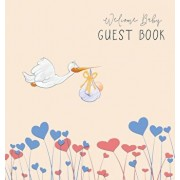 Baby Shower Guest Book with Gift Log (Hardcover) for Baby Naming Day, Baby Shower Party, Christening or Baptism Ceremony, Welcome Baby Party: For Baby, Hardcover/Angelis Publications