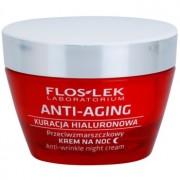 FlosLek Laboratorium Anti-Aging Hyaluronic Therapy creme hidratante de noite com efeito antirrugas 50 ml