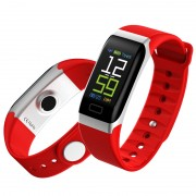 Y7 0.96 inch Color Screen IP68 Waterproof Smart Wristband Support Heart Rate Monitoring - Red